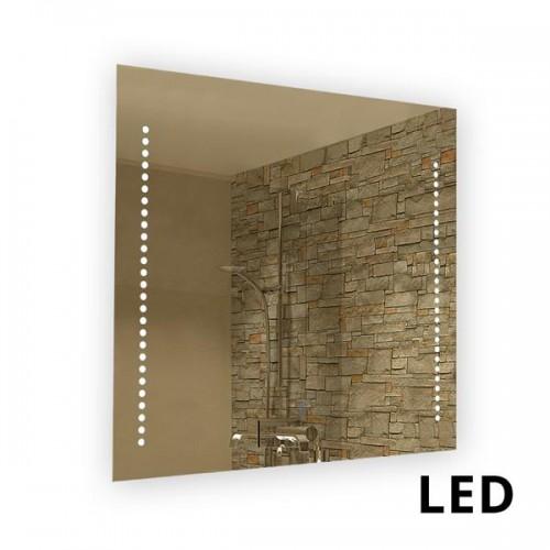 Espejo rectangular con luz led cálida incluida 28w, encendido al tacto