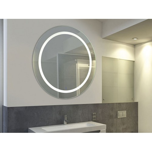 Espejo circular con luz led cálida incluida 28w , encendido al tacto.