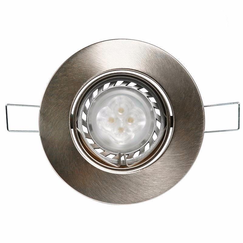 Spot embutir movil policarbonato platil, con lámpara dicroica led 5W GU10