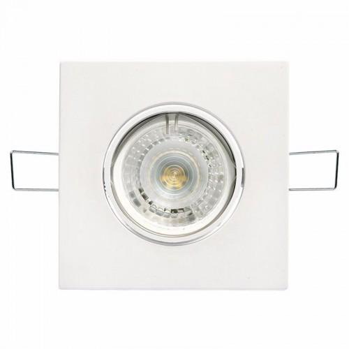 Spot embutir movil policarbonato blanco, con lámpara dicroica led 5w GU10