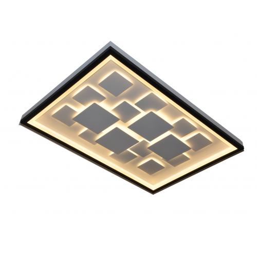 Plafón led diseño exclusivo. Luz efecto difuso y general. Cuerpo y discos interiores en aluminio blanco