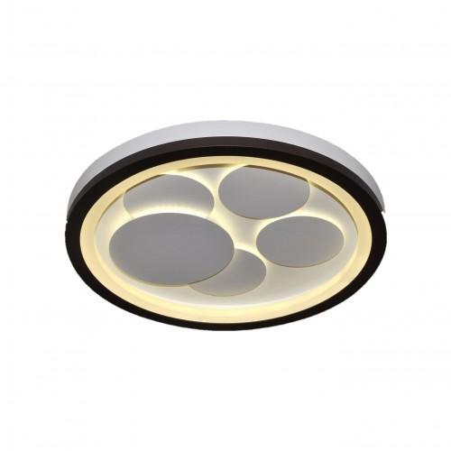 Plafón led 64w. Luz efecto difuso y general. Cuerpo y discos interiores en aluminio blanco