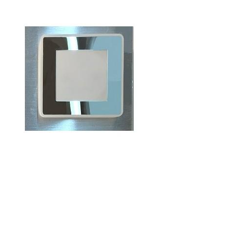 Plafón 1 luz led 4w, platil c/cromo
