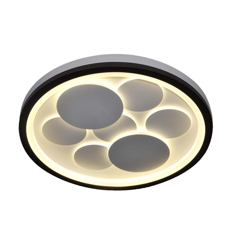 Plafón led diseño exclusivo. Opciones de cambio de tonalidad de luz con control remoto: cálido, neutro y frío