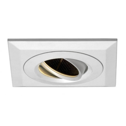 Embutido cuadrado anillo interior móvil extraíble. Bafle interior antideslumbrante. Giro 360º