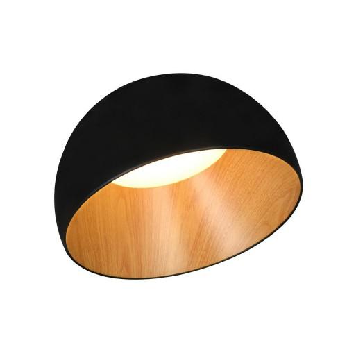 Plafón semiesferico asimétrico 25w Led Luz cálida