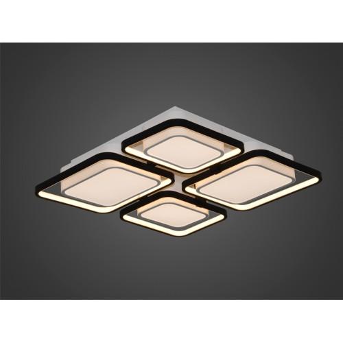Plafón led 4 placas, con marco led perimetral. Luz led 88w. Regulación de intensidad y tonalidad de luz mediante control remoto.