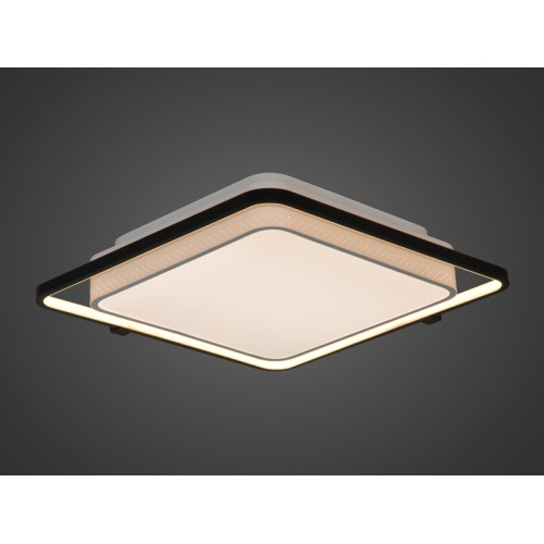 Plafón led, con marco led perimetral. Luz led 37w. Regulación de intensidad y tonalidad de luz mediante control remoto.