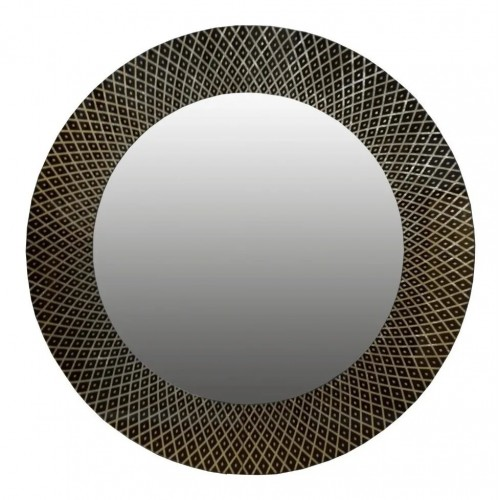 Espejo circular 1m de diámetro. Diseño en dorado a la hoja y negro.