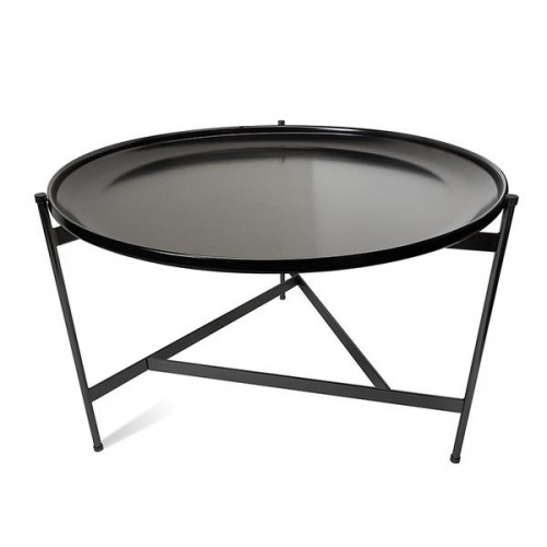 Mesa baja  82cm de diámetro. Base forma un diseño triangular .