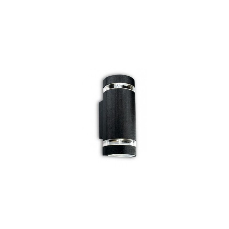 Aplique Oda II bidireccional, 2 luces p/dicroica, fundición aluminio y vidrio,