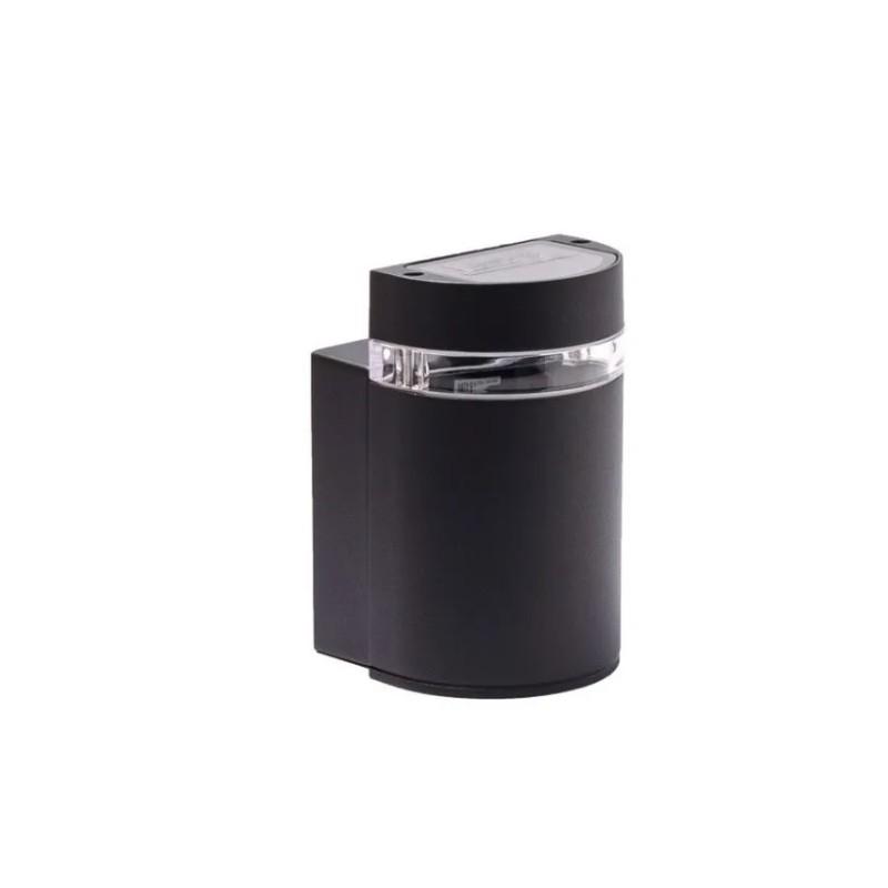 Aplique unidireccional Oda I,  1luz, p/dicroica, fundición aluminio, cristal