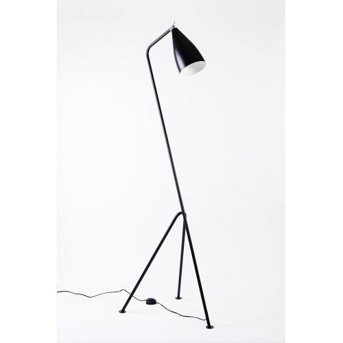 Lámpara de pie trípode. Cabezal orientable. 1 luz E27