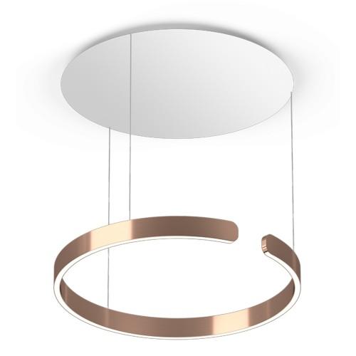 Colgante de aluminio. 60cm de diametro. LED 42w. dimmerizable