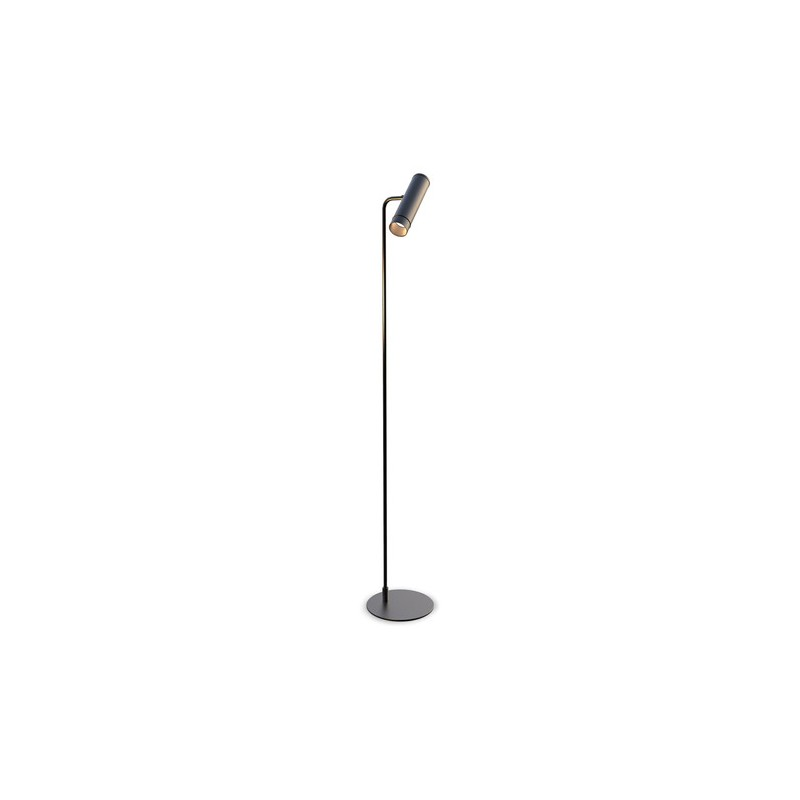 Lámpara de pie, cabezal cilindro movil, apto lampara led