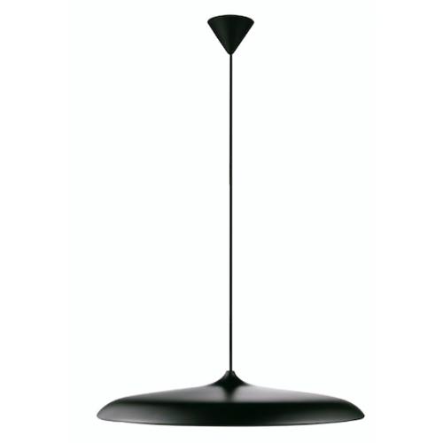 Colgante led plato extra delgado metálico Ø40cm , cable textil, luz directa cálida 30w
