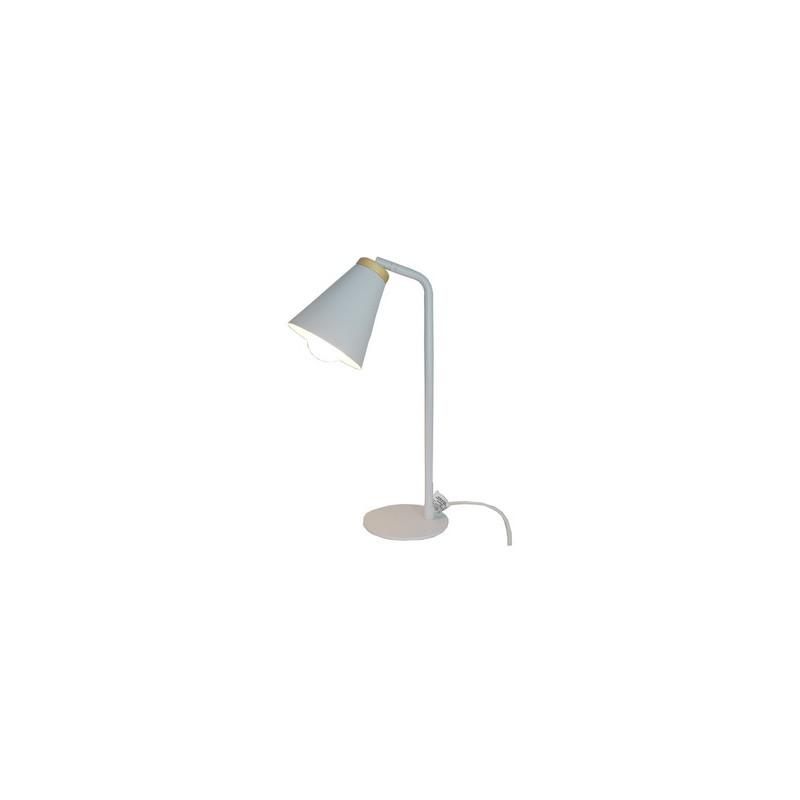 Lámpara de escritorio, cabezal metálico movil. 1 luz E27 apto led
