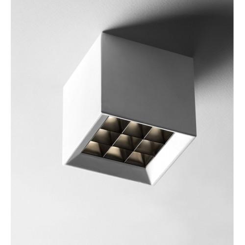 Plafón mini led 10w luz calida dimerizable con antideslumbrante