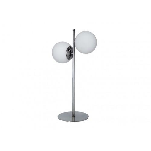 Velador 2 luces, esferas de cristal opalina, 2 lámparas G9, apto led
