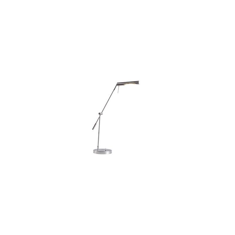 Lámpara de escritorio led , cabezal móvil acero.
