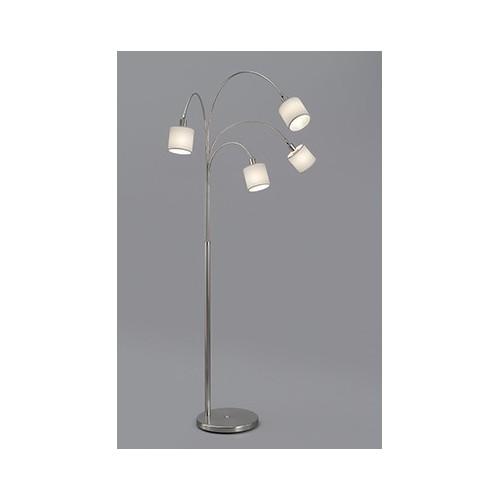 Lámpara de pié Miro 4 luces con pantalla varios colores