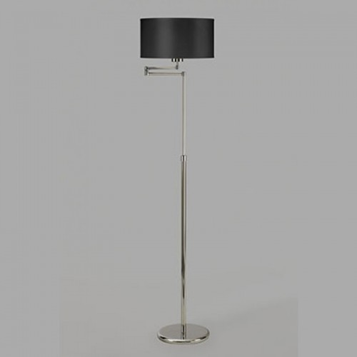 Lámpara de pie recta, brazo móvil c/pantalla