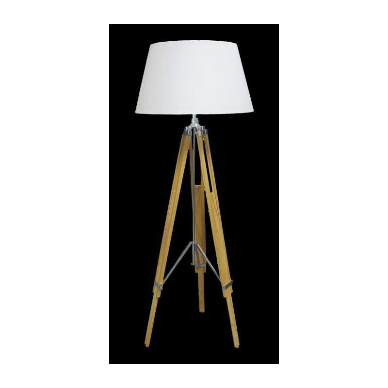 OnLine madera y de trípode Lámpara clara regulable cromo pie Eiffel dxtsCQhrB