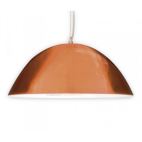 Colgante Campana cobre mate Ø 40 cm. 1 luz