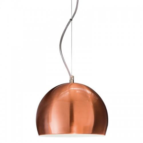 Colgante Bocha cobre mate Ø 23 cm. 1 luz