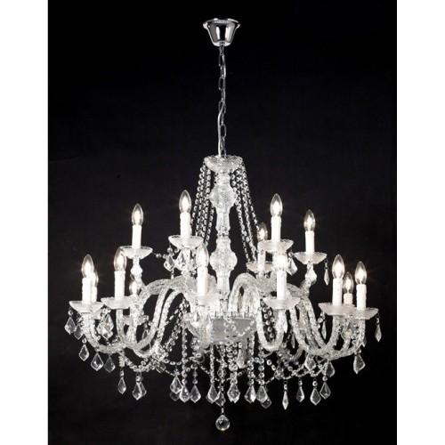 Araña de cristal ,18 luces 2 pisos c/ caireles