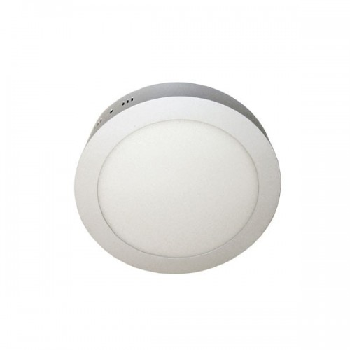 Plafón led 12w ,Ø 17cm , marco blanco, luz cálida o fría