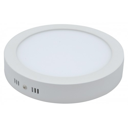 Plafón led 18w, Ø 22cm, marco blanco, luz fría o cálida
