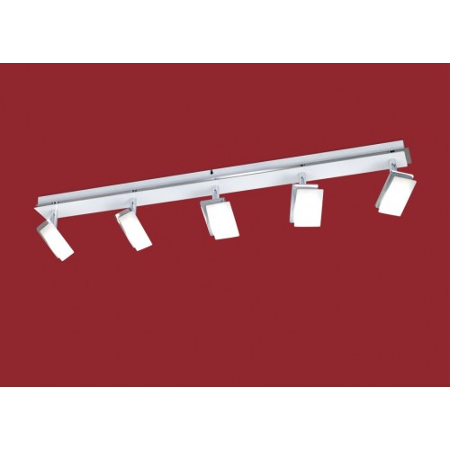Barral lineal 5 luces  led  6w c/u