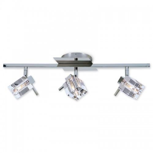 Barral Delta cristal cromo 3 luces G-9 apto LED Ronda