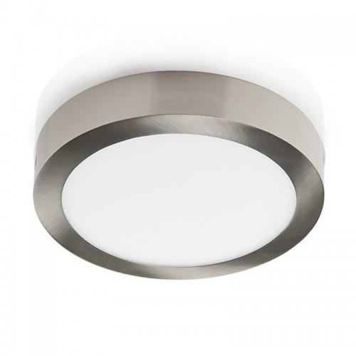 Plafón led 24w, Ø30cm,  marco platil, luz neutra