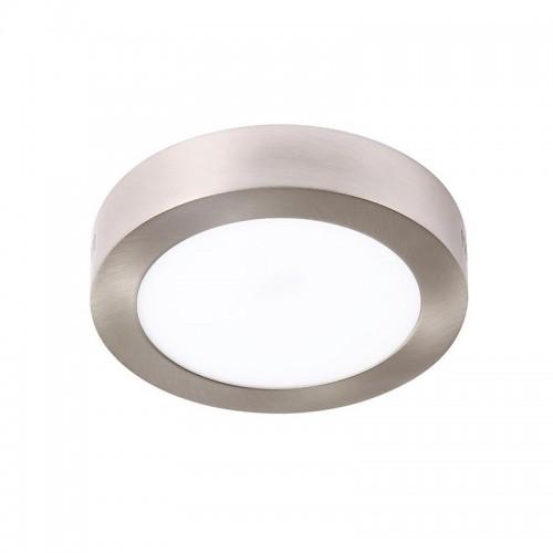Plafón led 12w, Ø17cm, marco platil, luz blanca neutra