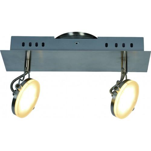 Aplique 2 luces led x 5w, cálido, platil