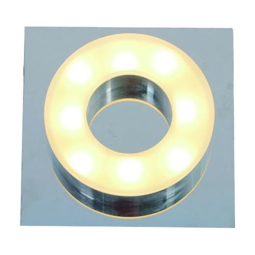 Plafón led 1x5w , cálido,  base cromo