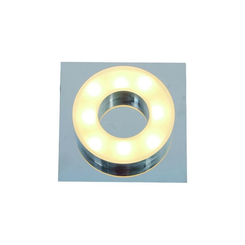 Plafón línea Sublime led 1x5w , calido, difusor opal, base cromo