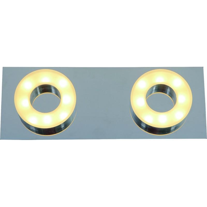 Plafón línea Sublime led 2x5w , calido, difusor opal, base cromo