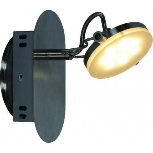 Aplique línea Solución, 1 luz led 5w, luz cálida, platil