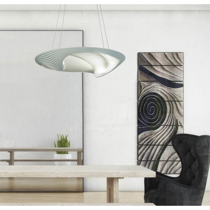 Colgante LED Madrid 20w. 50 cm Ø fundicion aluminio
