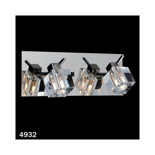 Aplique Delta cristal cromo 2 luces G-9 apto LED Ronda