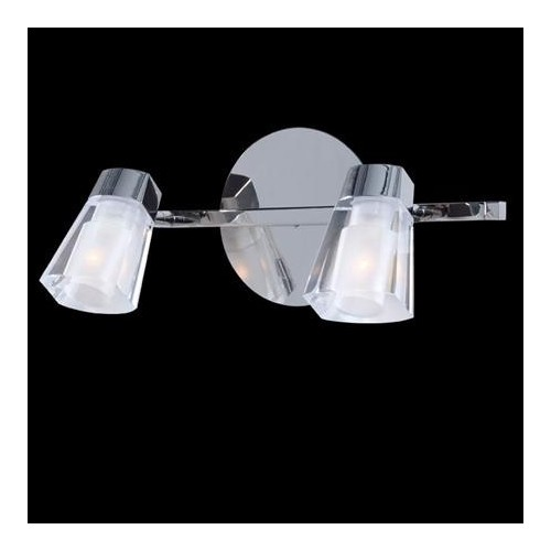 Aplique Virgo cristal cromo 2 luces G-9 apto LED Ronda