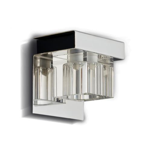 Aplique Gam cristal cromo 1 luz G-9 apto LED