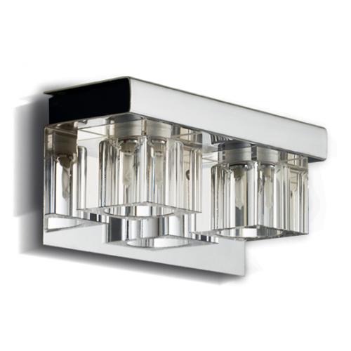 Aplique Gam cristal cromo 2 luces G-9 apto LED