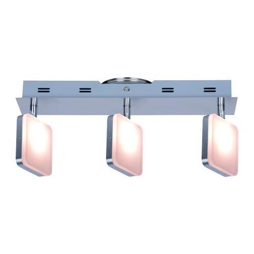 Aplique 3 luces led 4w, luz cálida, platil