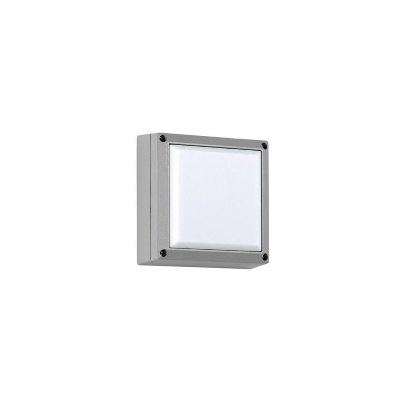 Plafón Tony, 1 luz E27, 21x21cm, aluminio y acrílico opal