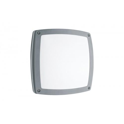 Plafón / Aplique, 2 luces E27, aluminio y acrílico opal