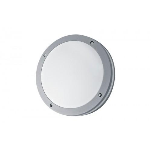 Plafón / Aplique, 2 luces E27 , aluminio y policarbonato opal